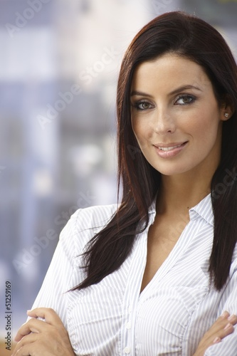 Outdoor portrait of confident young woman