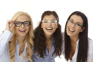Beautiful girls in glasses