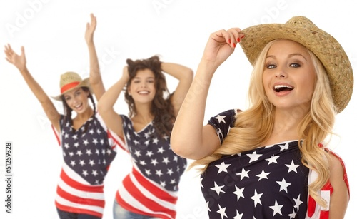 Happy American girls