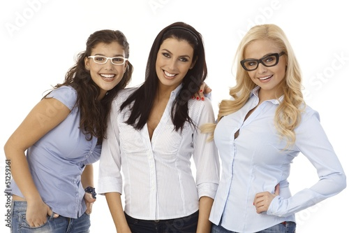Female friends in glasses