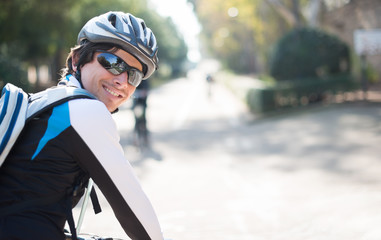 Portrait Of Young Male Cyclist