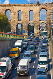 Car traffic at Istanbul Turkey