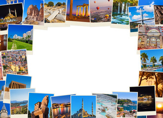 Frame made of Turkey travel images