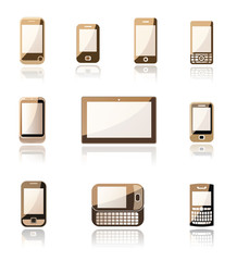 Mobil phone and tablet icons