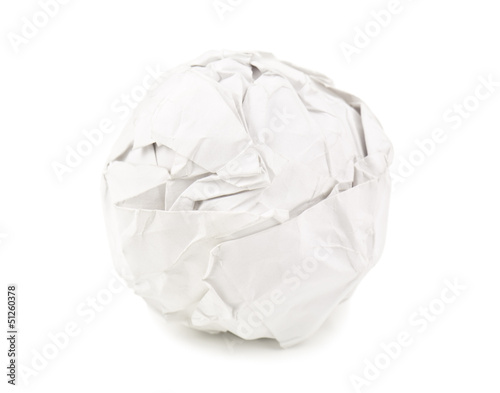paper ball on white