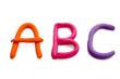 ABC aus Plastilin