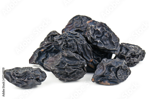 prunes on white