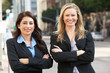 Portrait Of Two Businesswomen Outside Office