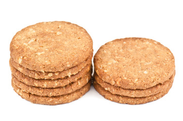 stack of oat cookiea