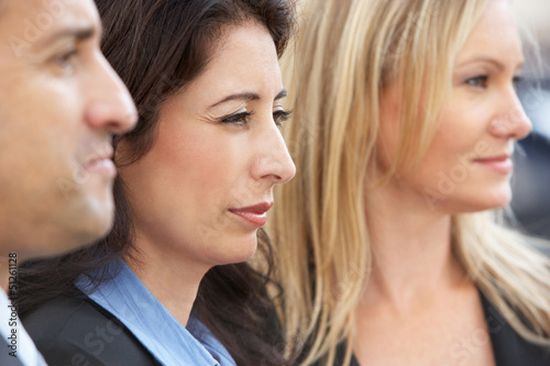 Close Up Of Three Business Colleagues