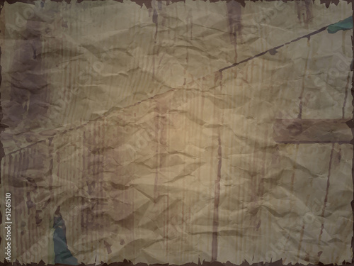 Creased paper with wood effect in dark shade