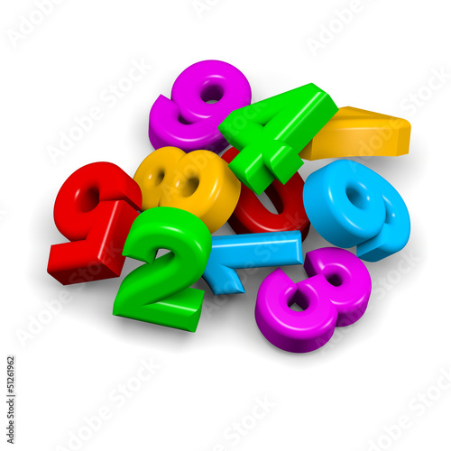 Stack of numbers