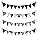 a set of four lines of bunting