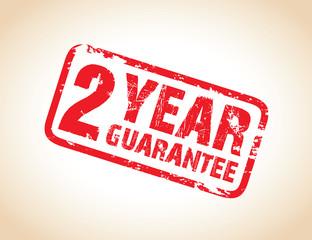 two year guarantee stamp