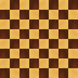 Wooden realistic chessboard vector background