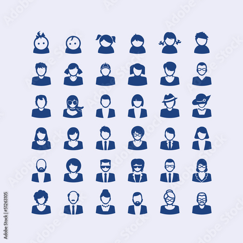 Set of avatar icons