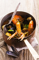 meeresfrüchte-Suppe