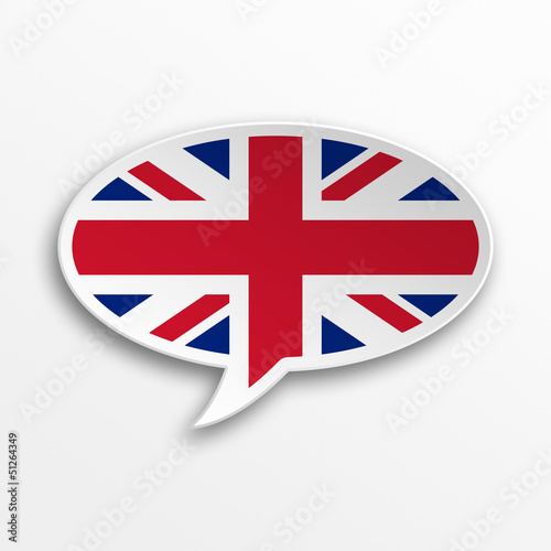 3d speech bubble - England