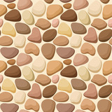 Seamless texture with stones. Vector illustration.