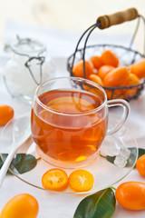 Tea from oranges and kumquats
