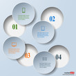 Abstract paper infografics. Internal and external data concept