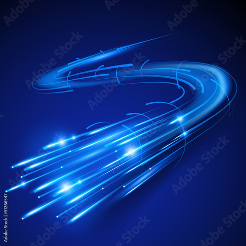 Super Fast Fibre Optic. Vector illustration