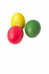 Окрашенные яйца к празднику.