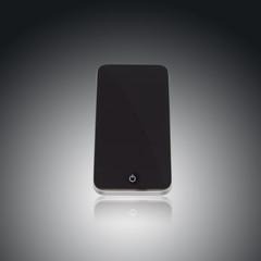 Smartphone freigestellt mit schwarzem Display