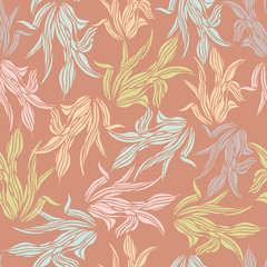 Seamless pattern of  leaf background