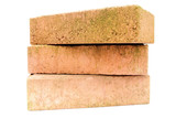 Three masonry bricks