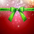 holiday background with green bow