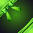green background with bow and ribbon