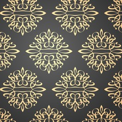 Wallpaper ornament. Decorative pattern in line-art style