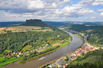 Elbe river from königstein castle, Saxony (Germany)
