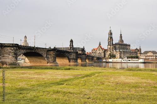 Panoramic view of Dresden (Germany)