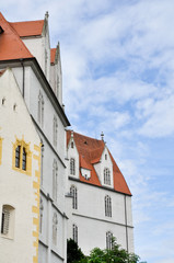 Facade of Albrechtsburg castle at Meissen, Saxony (Germany)