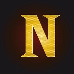 N vergoldet