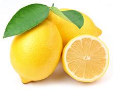 """Постер, картина, фотообои """"Lemons with leaves."""""""