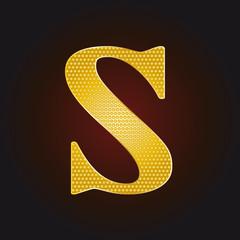 S vergoldet