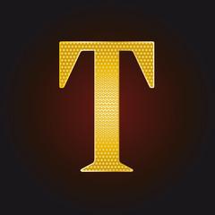 T vergoldet