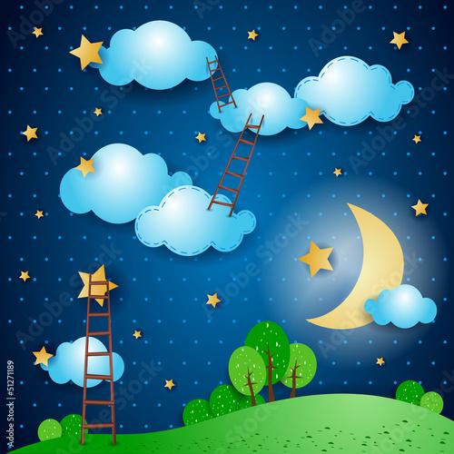 fantasielandschaft-in-der-nacht