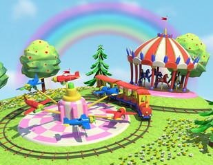 giostre e arcobaleno 1