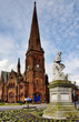 Greyfriars Church and Robbie Burns statue