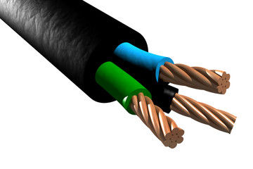 Tri-rated cable (3D)