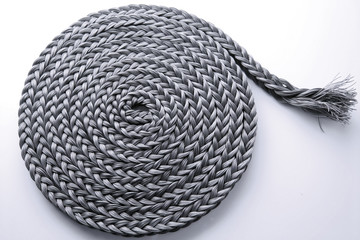 Braided rope roll