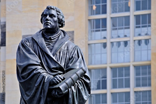 Martin Luther Statue in Dresden
