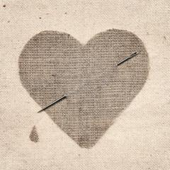 canvas heart