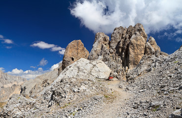 Dolomites - Costabella rock