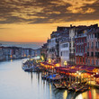 Famous Grand Canal at sunset