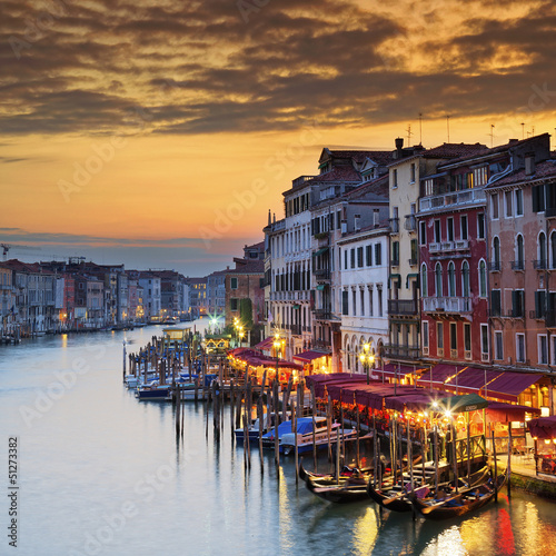 Famous Grand Canal at sunset - 51273382